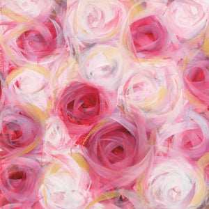 White and Pink Roses Canvas Art