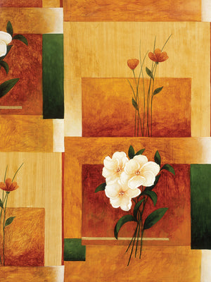 Geometric Shapes and Flowers # 16 Canvas Art