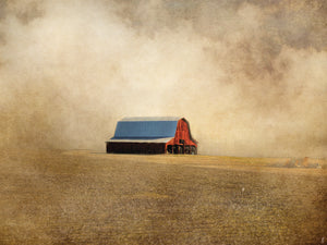 Red Barn In Missouri Canvas Art