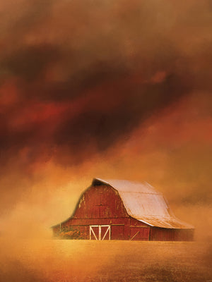 Summer Storm At The Barn Canvas Art