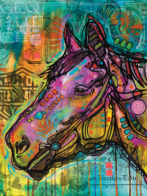Horsepower - highest quality handcrafted wall art work on large canvas & framed canvas prints by Dean Russo