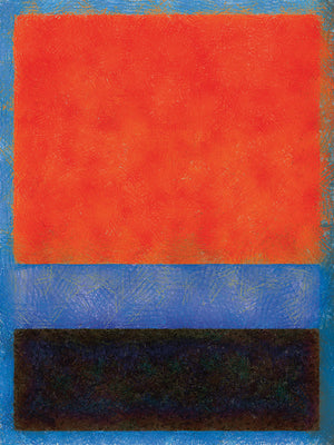 Rothko Style Red Black And Blue Canvas Art