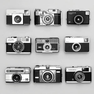 Set of 9 Antique Cameras Canvas Art