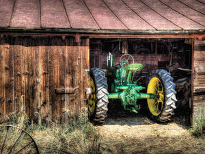 Deere in the Barn Canvas Art