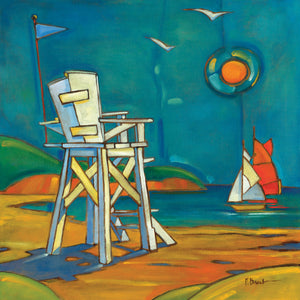 Portofino Lifeguard Chair Canvas Art