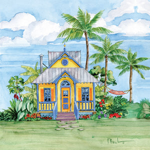 Tropical Cottage II Canvas Art