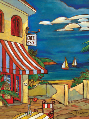 Portofino Café Canvas Art