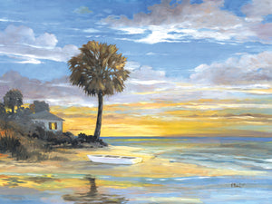 Island Twilight Canvas Art