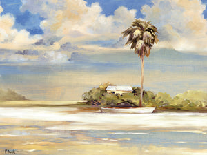 Island - Blue Canvas Art