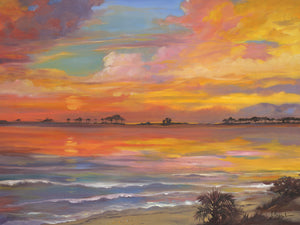 Tyndall Sunset – Oil Canvas Art
