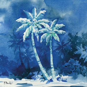 Midnight Palms I Canvas Art
