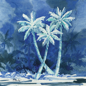 Midnight Palms II Canvas Art