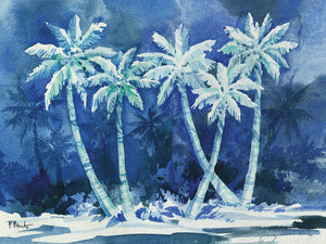Midnight Palms Horizontal Canvas Art