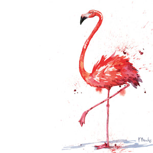 Arianna Flamingo II Canvas Art