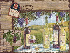 Wine Country Collage Horizontal Canvas Art