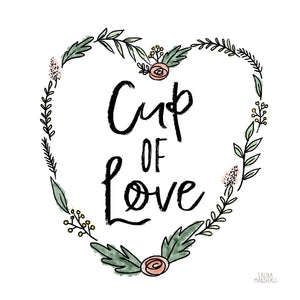 Cup of Love Canvas Art
