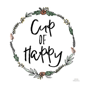 Cup of Happy Canvas Art