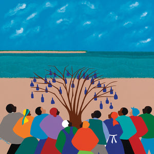 Bottle Tree Gullah Islands Canvas Art