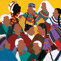 Council of Indigenous Grandmothers  Canvas Prints