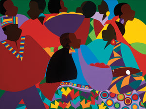 Masekela's Marketplace Congo Canvas Art