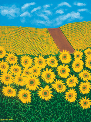 Tuscan Sunflowers Canvas Prints