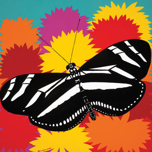 Zebra Butterfly Canvas Art
