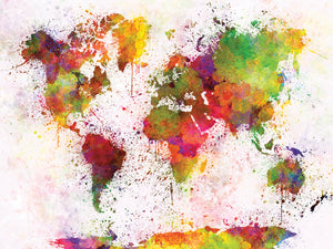 Wonderful World of Watercolors Canvas Prints