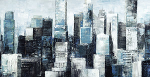 City Blue I Light Canvas Art