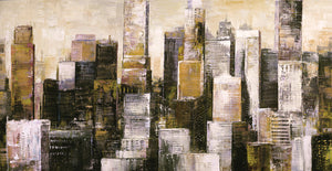 City Gold I Canvas Art