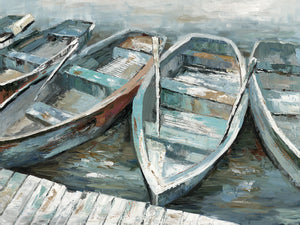 Rowing II Soft Canvas Art
