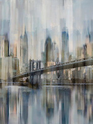 Hudson River Blur Canvas Art