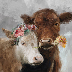 Moo Review Square Canvas Art