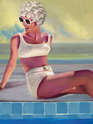 Retro Beach Girls III Canvas Art