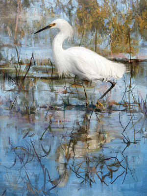 White Egret Canvas Art
