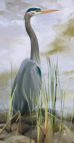 Blue Heron Canvas Art