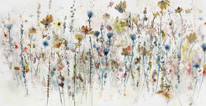 Watercolor Wildflowers Canvas Art