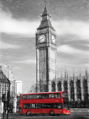 Big Ben Doubledecker Bus Canvas Art