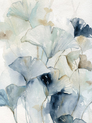 Indigo Gingko I Canvas Art
