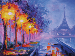 Paris Painter Eiffel Tower Canvas Prints