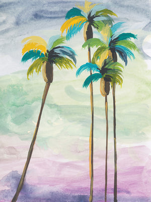Four Palms No. 2 Canvas Art