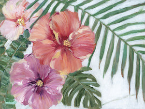 Blooming Hibiscus Canvas Art