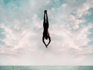 Cliff Diver Canvas Art