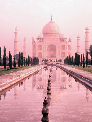 Taj Mahal in Pink Light Canvas Art