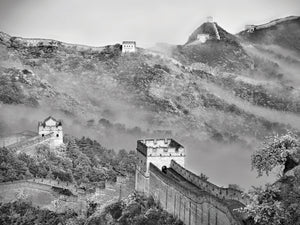 Great Wall Fog Canvas Art
