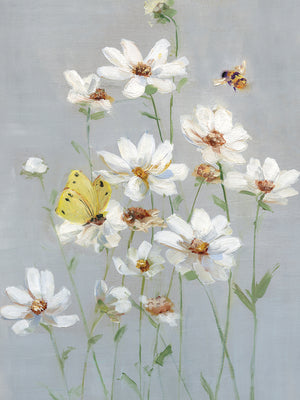 Gathering Daisies I Canvas Art