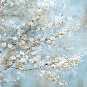 White Blossoms Canvas Art