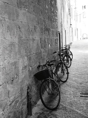 Bicycles in the Alley Canvas Prints