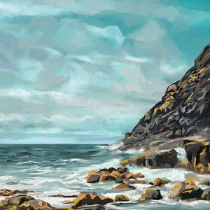Shore Cliffs Canvas Prints