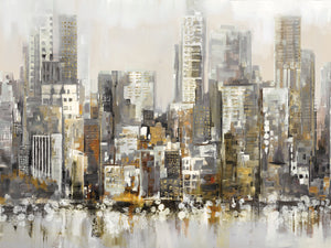 Urban Focus Gold Canvas Prints