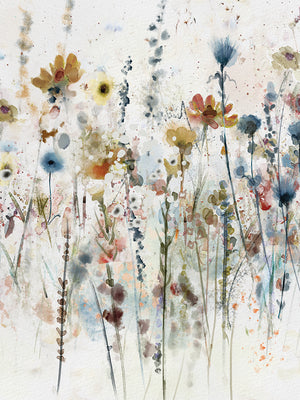 Watercolor Wildflowers Portrait I Canvas Prints